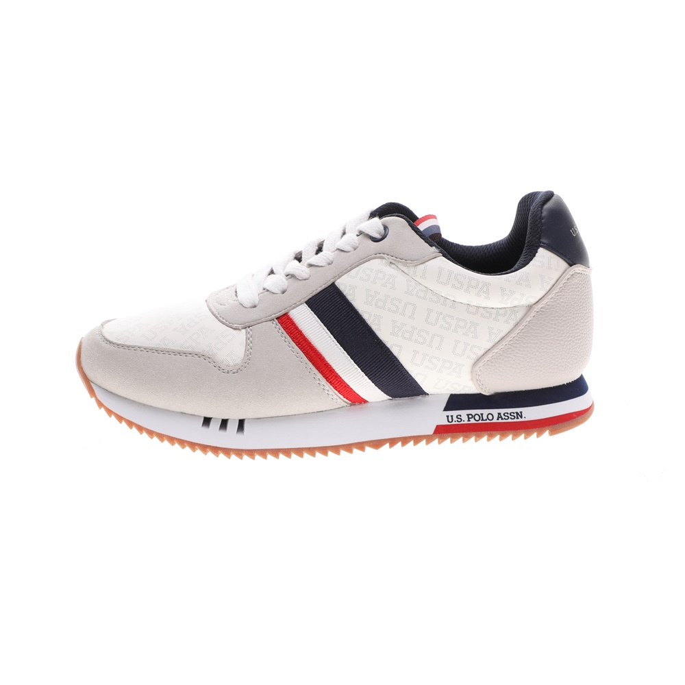 US POLO – Γυναικεία sneakers US POLO ALFEA CLUB RUNNING γκρι εκρού