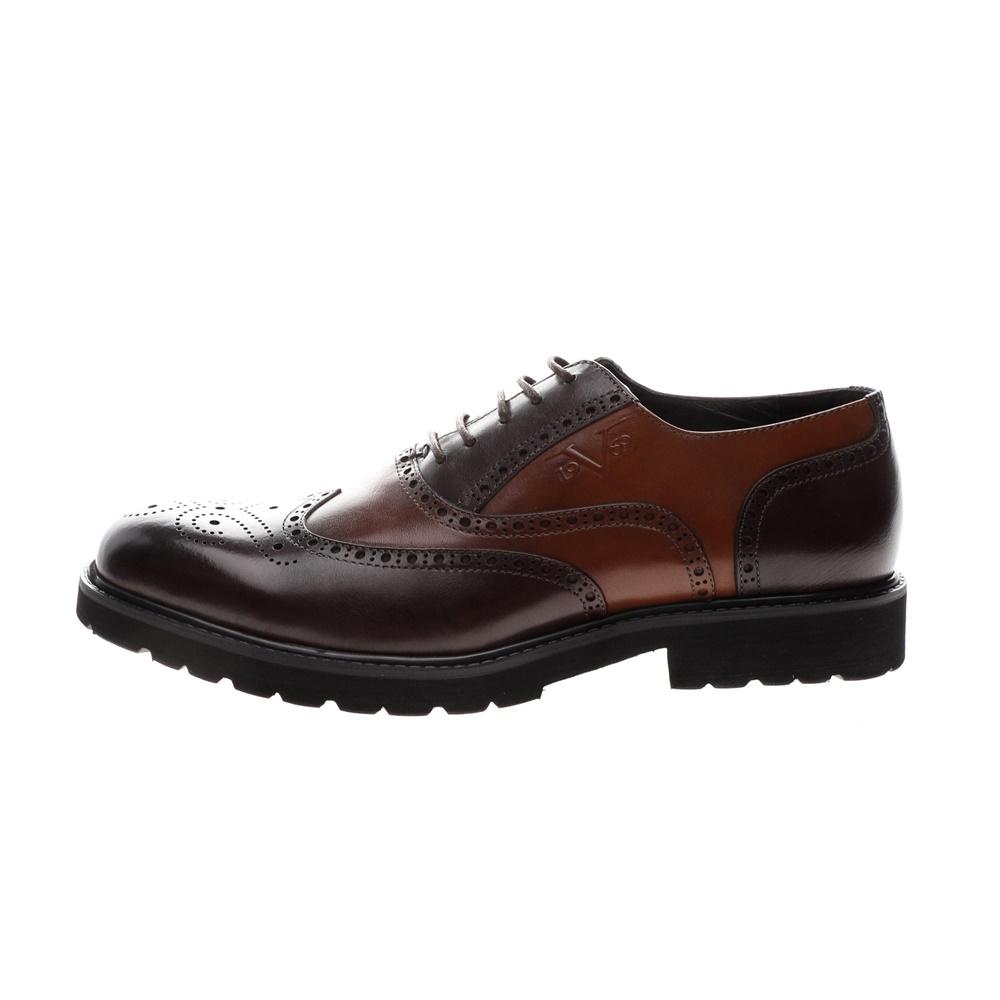 19V69 ITALIA – Ανδρικά δετά brogues παπούτσια 19V69 ITALIA καφέ