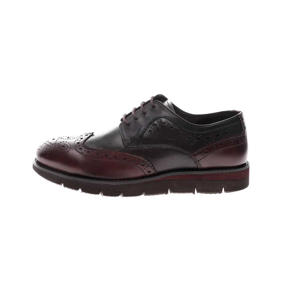 GIACOMO CARLO – Ανδρικά δετά παπούτσια brogue GIACOMO CARLO καφέ γκρι