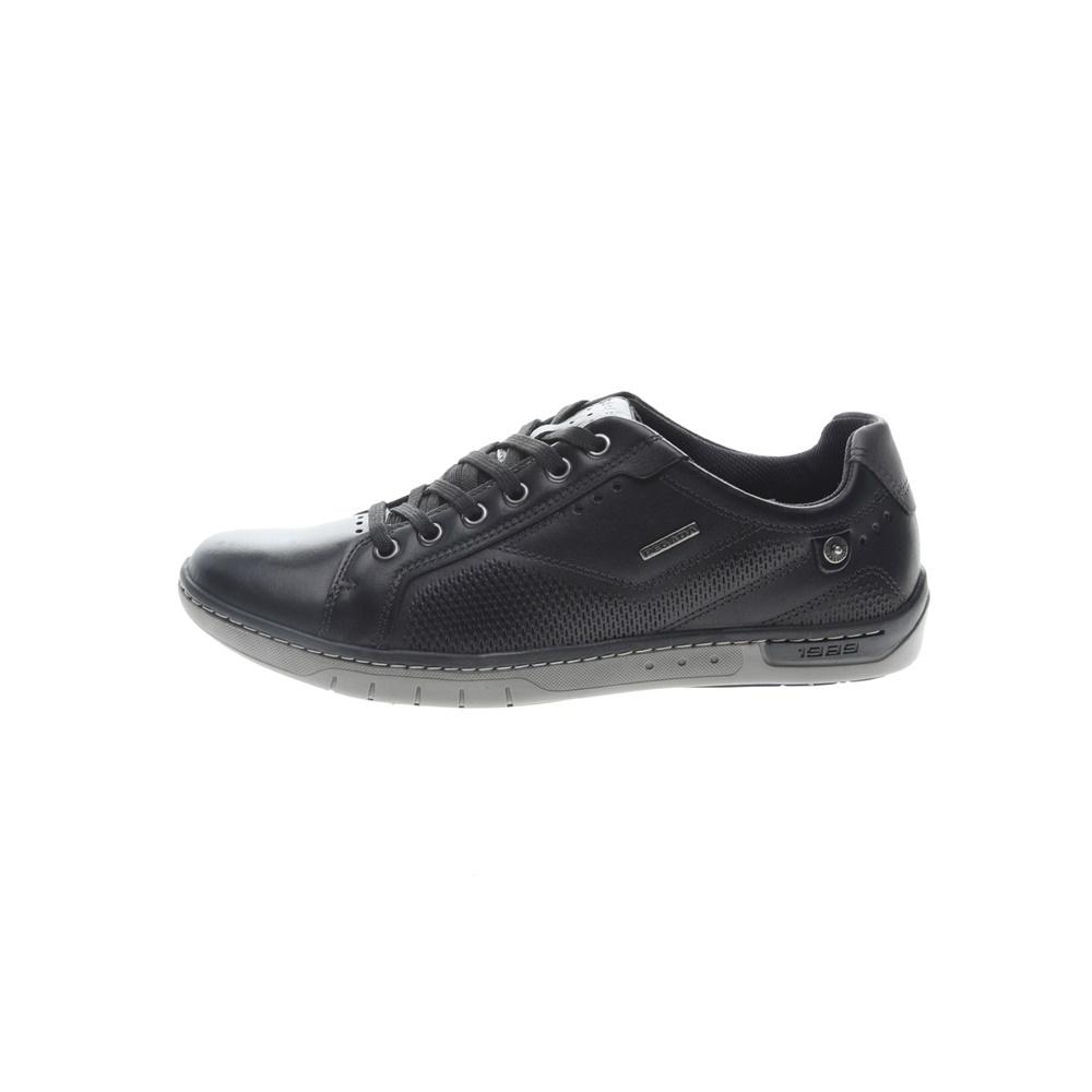 PEGADA – Ανδρικά δερμάτινα sneakers PEGADA μαύρα