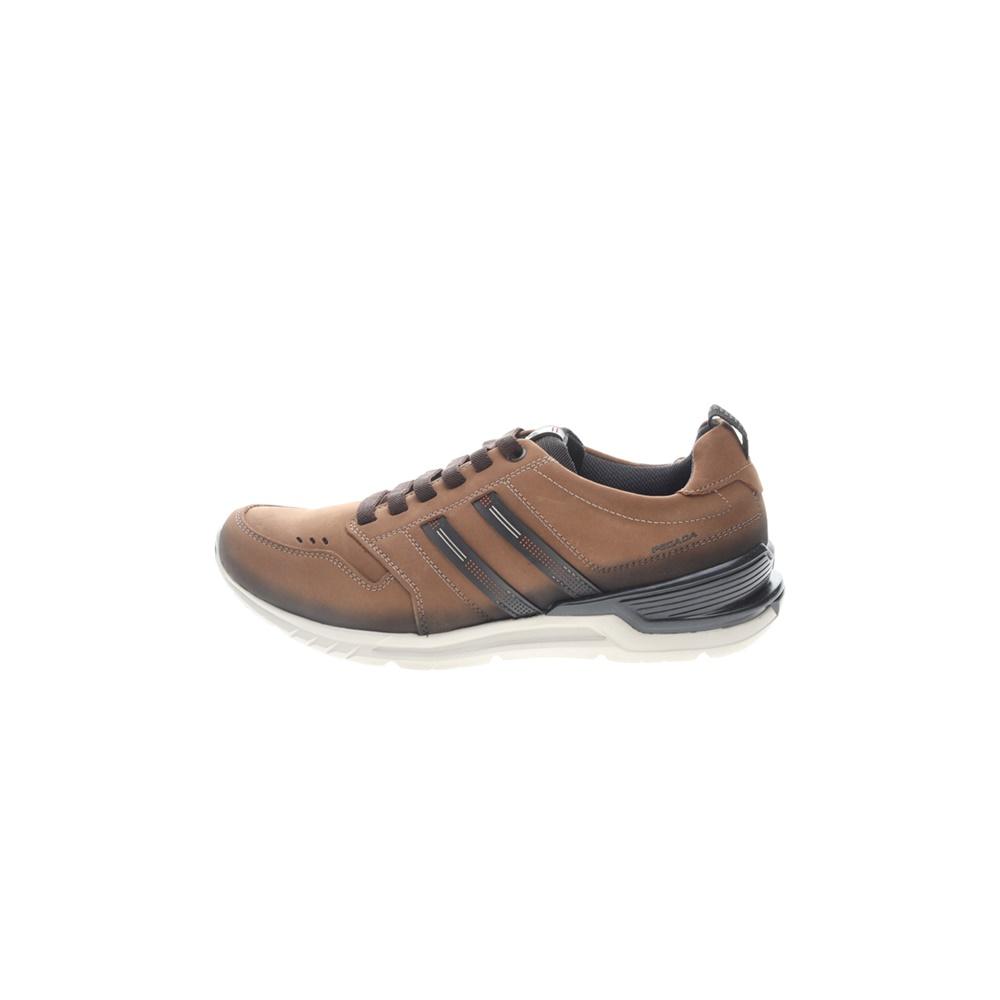 PEGADA – Ανδρικά δερμάτινα sneakers PEGADA καφέ