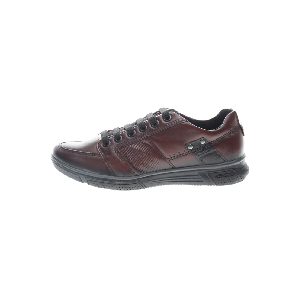 PEGADA – Ανδρικά δερμάτινα sneakers PEGADA μπορντό