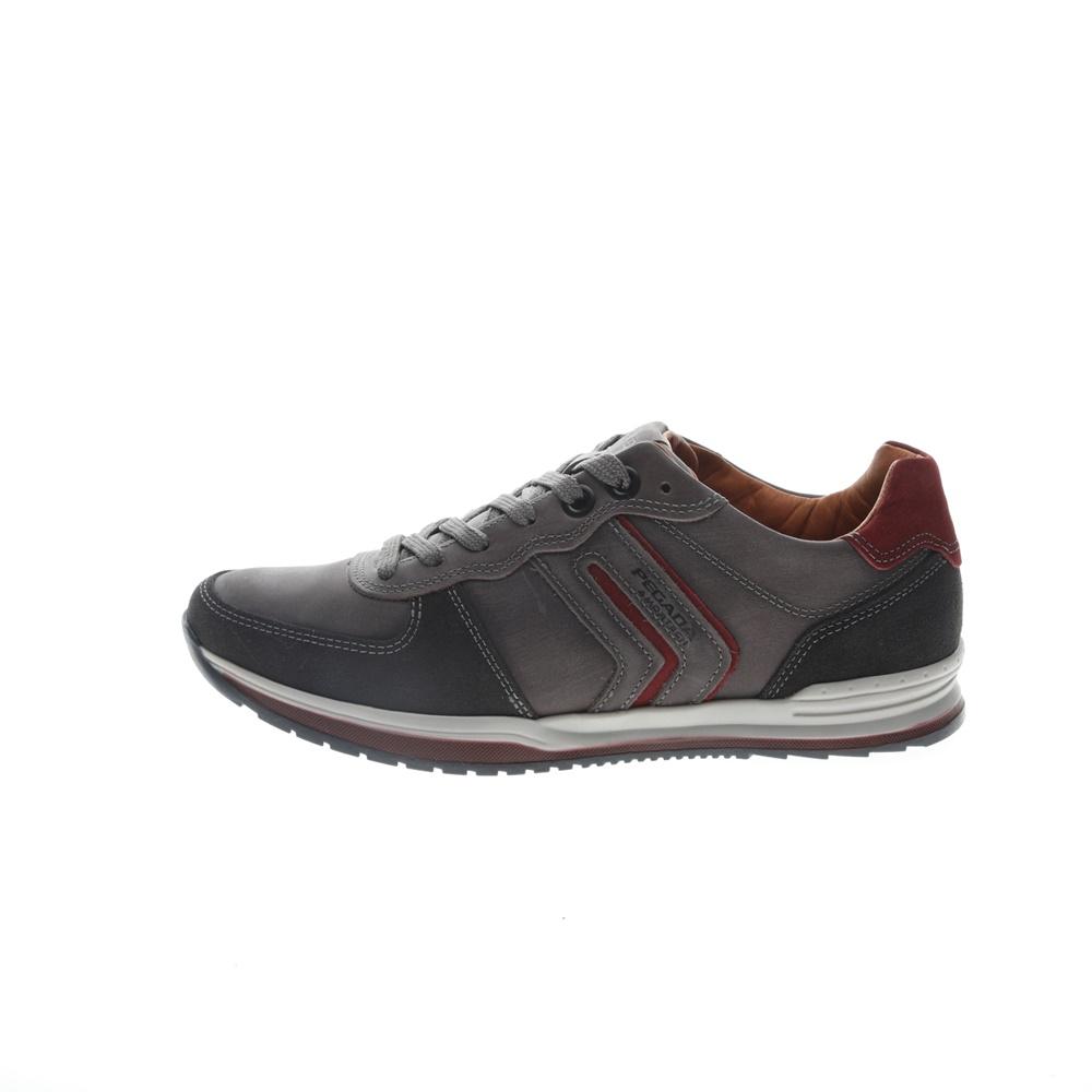 PEGADA – Ανδρικά δερμάτινα sneakers PEGADA γκρι