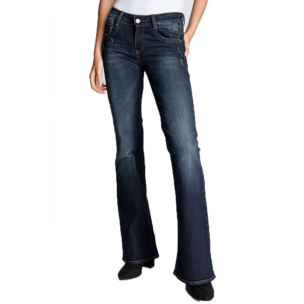 EDWARD JEANS - Γυναικείο jean παντελόνι καμπάνα EDWARD JEANS RAMIE-NB μπλε