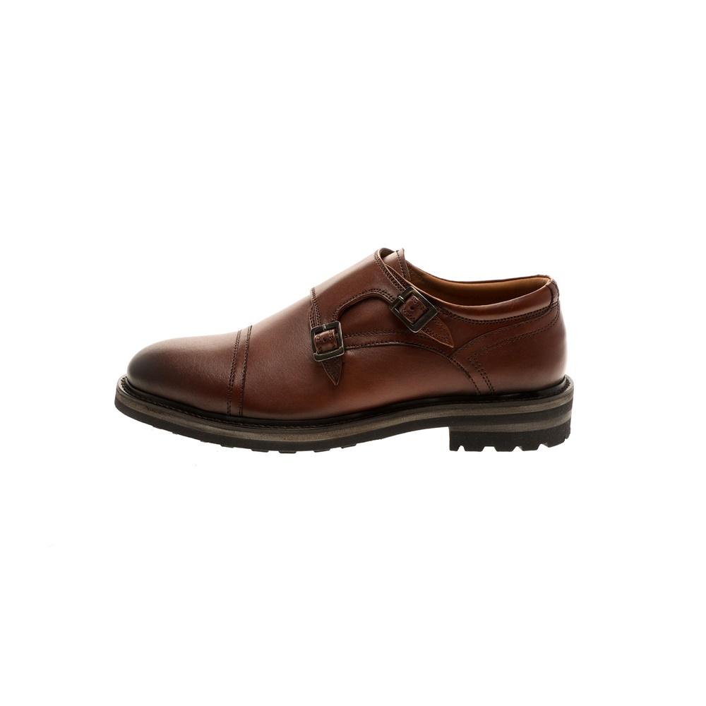 GIACOMO CARLO – Ανδρικά παπούτσια monk brogue GIACOMO CARLO καφέ