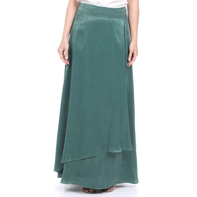 ATTRATTIVO - Γυναικεία μακριά φούστα ATTRATTIVO πράσινη