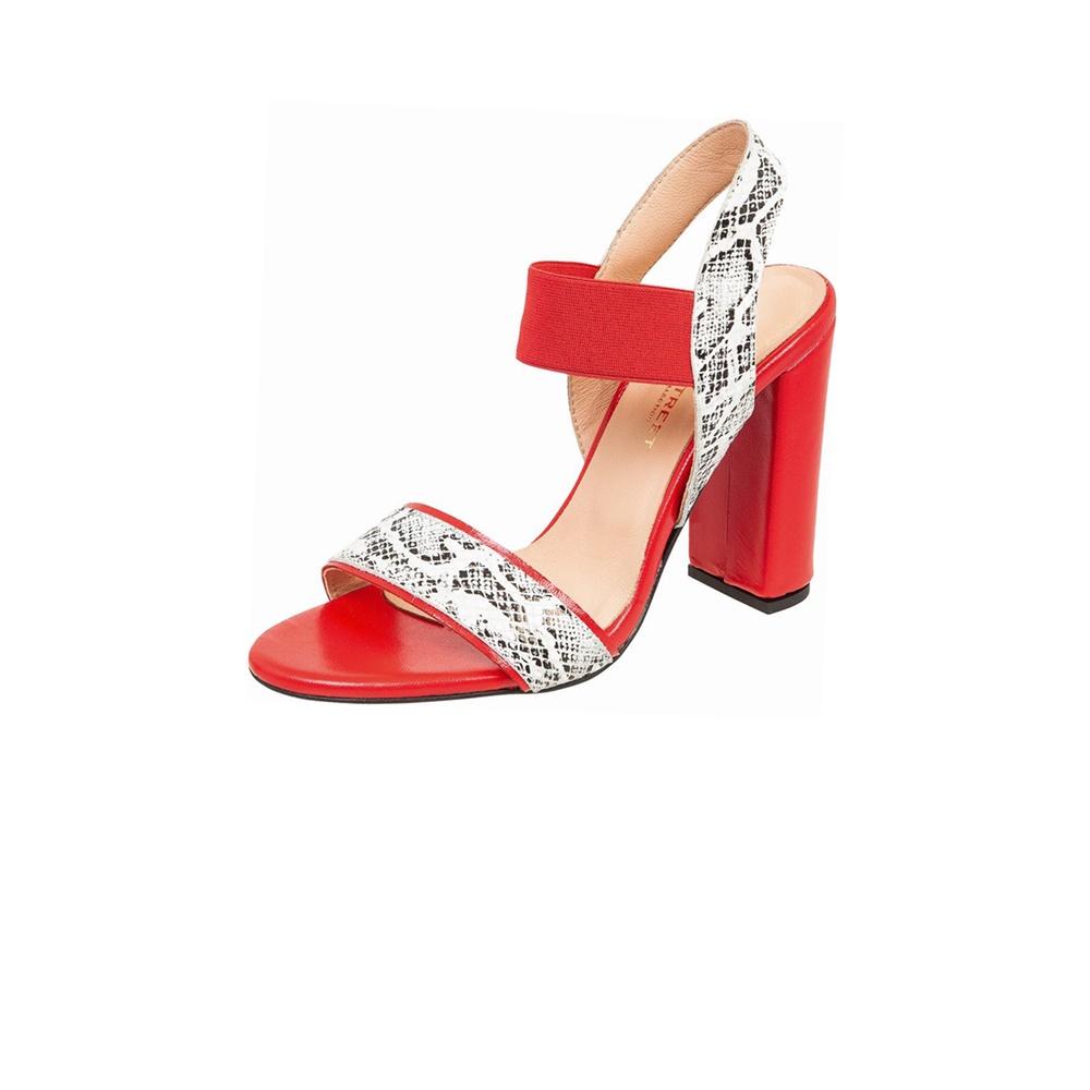WALL STREET – Γυναικεία πέδιλα ADAMS WALL STREET κόκκινα