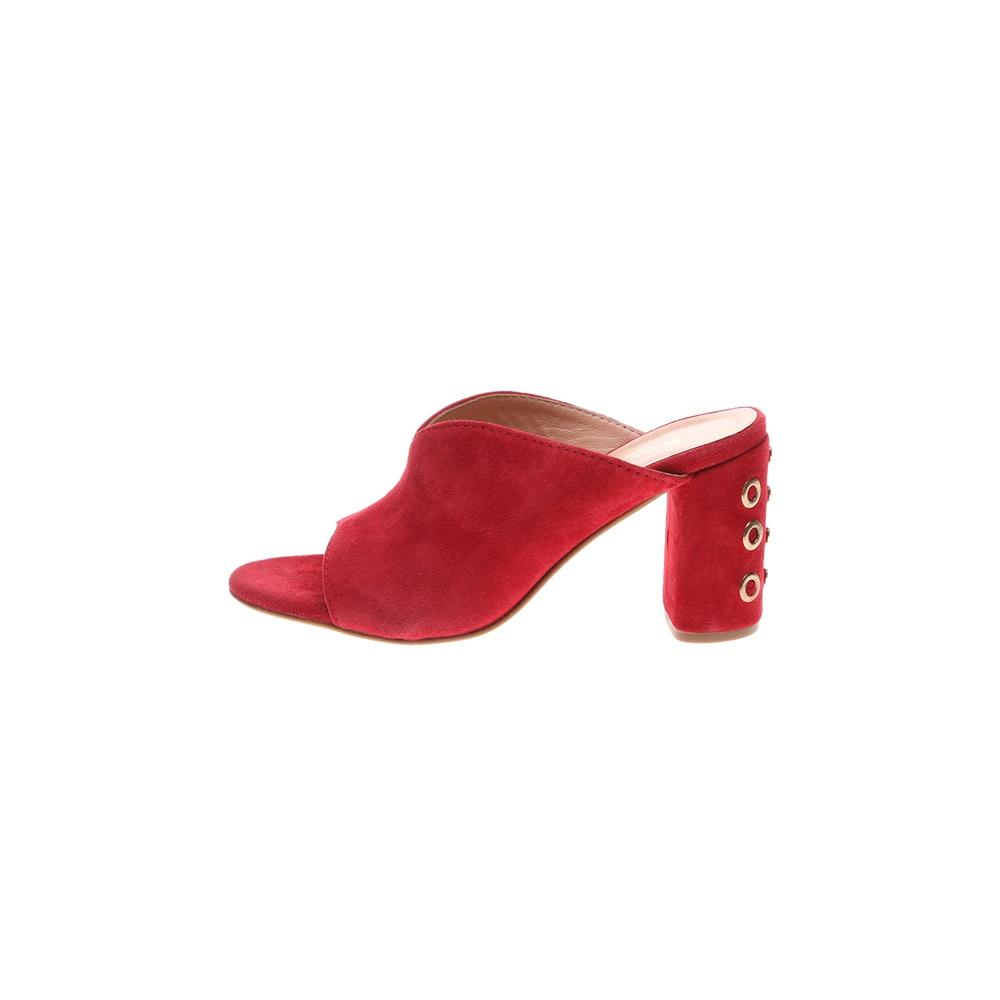 WALL STREET – Γυναικεία καστόρινα mules ADAMS WALL STREET κόκκινα