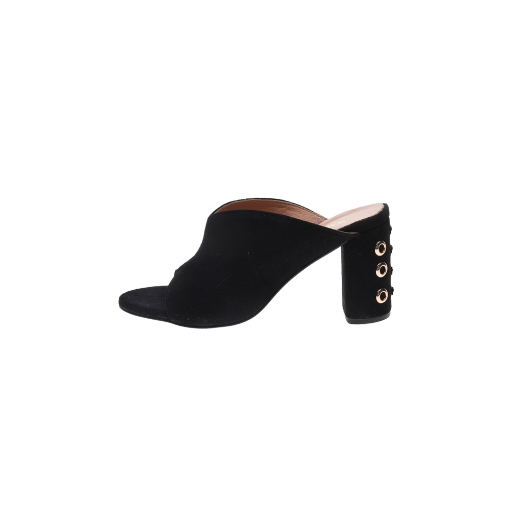 WALL STREET – Γυναικεία δερμάτινα mules ADAMS WALL STREET μαύρα