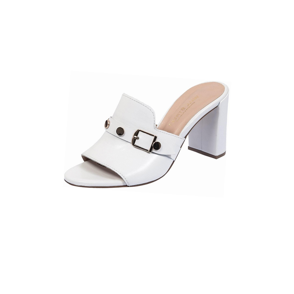 WALL STREET – Γυναικεία mules ADAMS WALL STREET λευκά