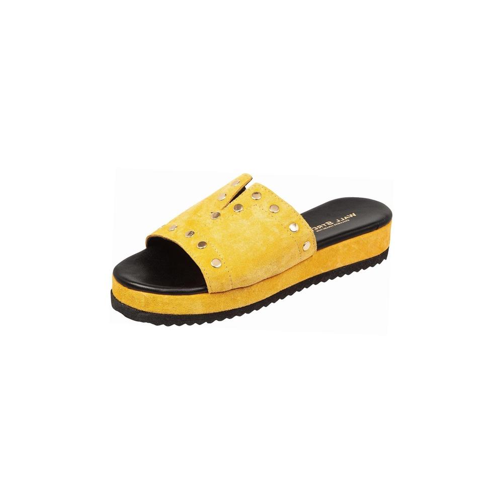 WALL STREET – Γυναικεία mules ADAMS WALL STREET κίτρινα