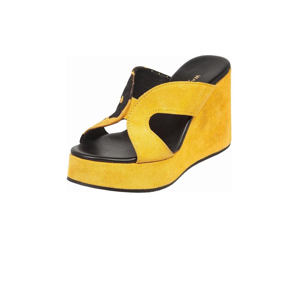 WALL STREET – Γυναικείες πλατφόρμες ADAMS WALL STREET κίτρινες