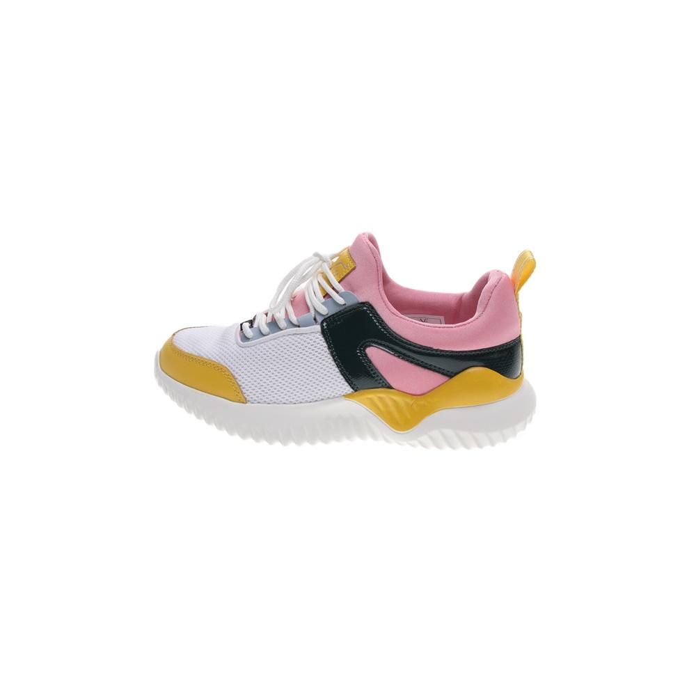 19V69 ITALIA – Γυναικεία sneakers 19V69 ITALIA λευκά κιτρινα ροζ