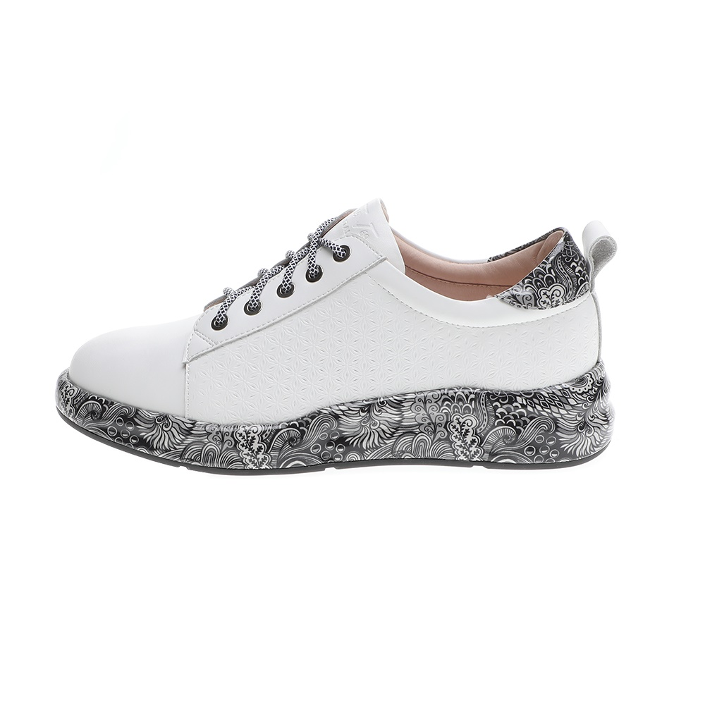 19V69 ITALIA – Γυναικεία sneakers 19V69 ITALIA λευκά μαύρα