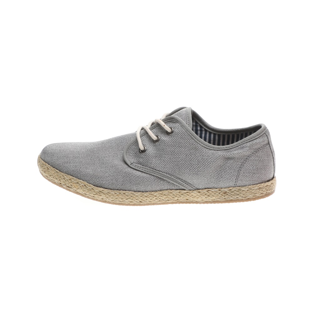 NAVY MARINE – Ανδρικά δετά παπούτσια εσπαντρίγιες NAVY MARINE γκρι