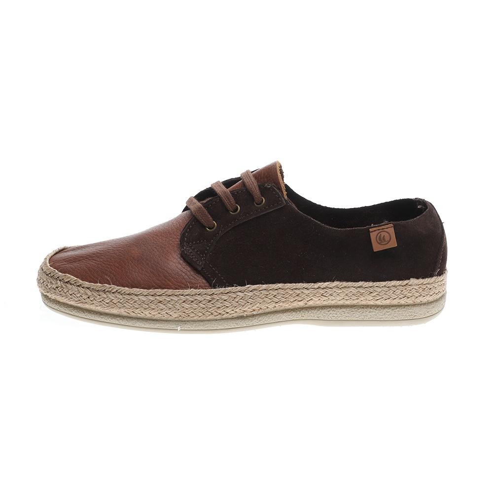 NAVY MARINE – Ανδρικά δετά παπούτσια εσπαντρίγιες NAVY MARINE καφέ
