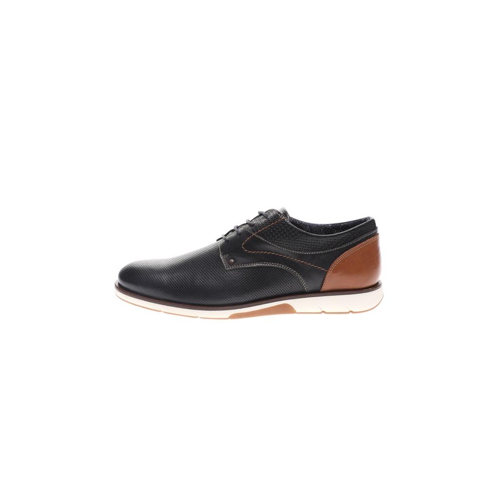 GIACOMO CARLO – Ανδρικά casual δετά παπούτσια GIACOMO CARLO μπλε καφέ