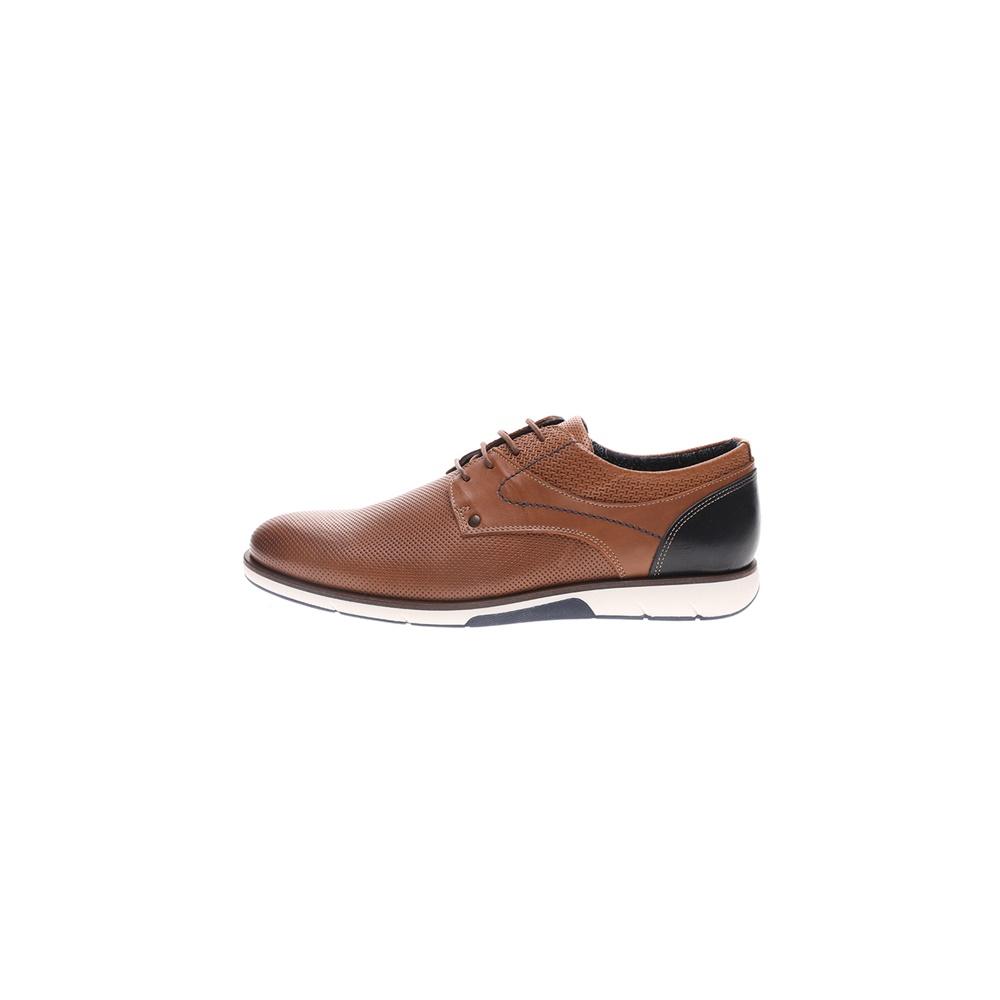 GIACOMO CARLO – Ανδρικά casual δετά παπούτσια GIACOMO CARLO καφέ μπλε