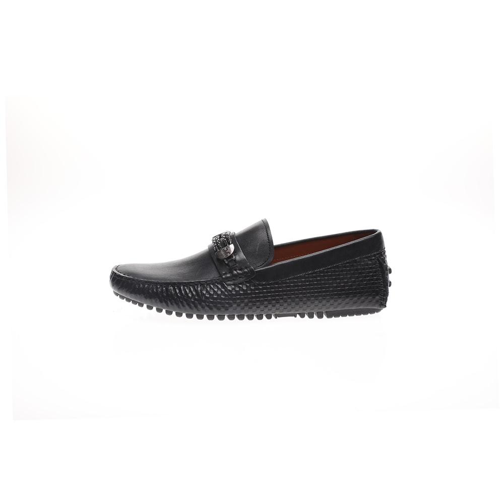 19V69 ITALIA – Ανδρικά loafers 19V69 ITALIA WAXED μαύρα