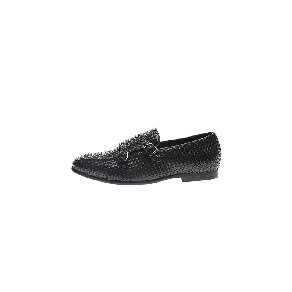 19V69 ITALIA – Ανδρικά loafers 19V69 ITALIA MONK STRAP μαύρα