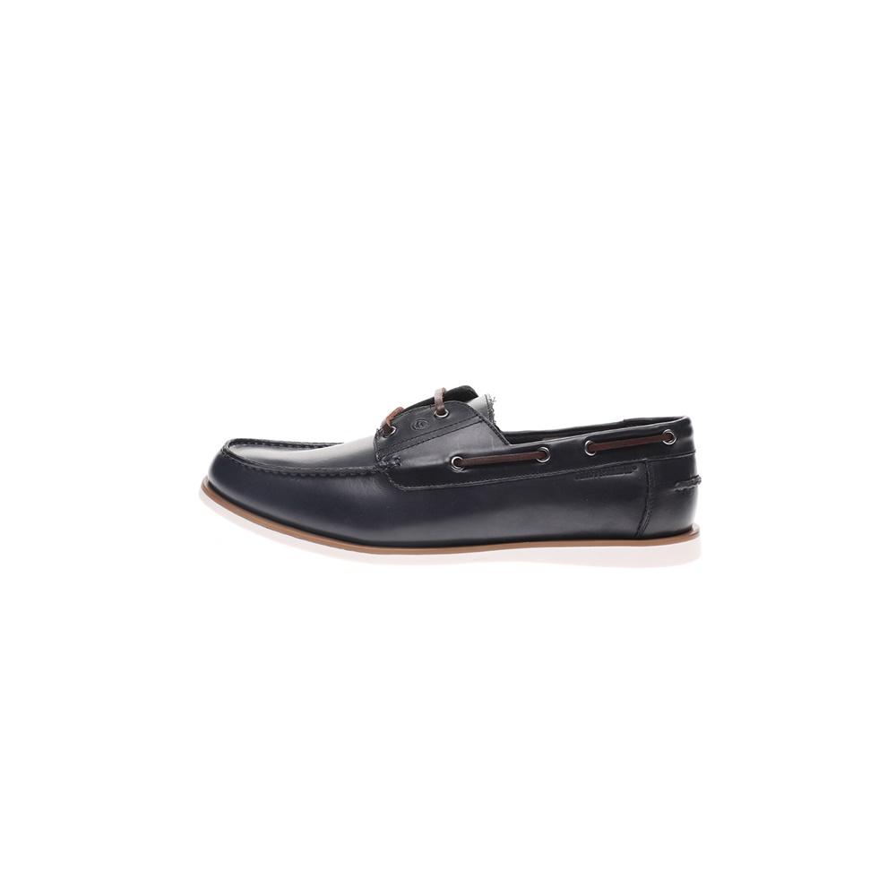 NAVY MARINE – Ανδρικά παπούτσια lace-up boat NAVY MARINE μπλε