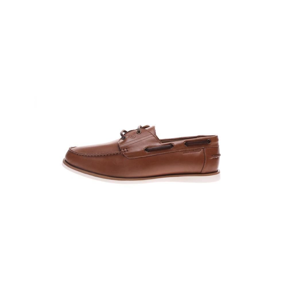 NAVY MARINE – Ανδρικά παπούτσια lace-up boat NAVY MARINE καφέ