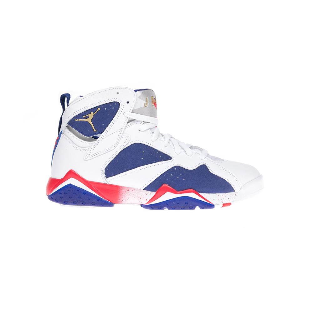 NIKE – Αντρικά παπούτσια NIKE AIR JORDAN 7 RETRO άσπρα-μπλε- ΑΠΟ ΓΚ