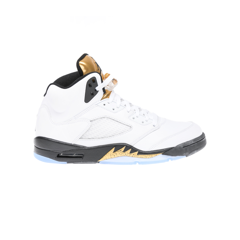 NIKE – Αντρικά αθλητικά παπούτσια NIKE AIR JORDAN 5 RETRO άσπρα-ΑΠΟ ΓΚ