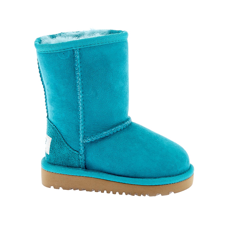 UGG - Βρεφικά μποτάκια UGG πετρόλ παιδικά baby παπούτσια μπότες μποτάκια