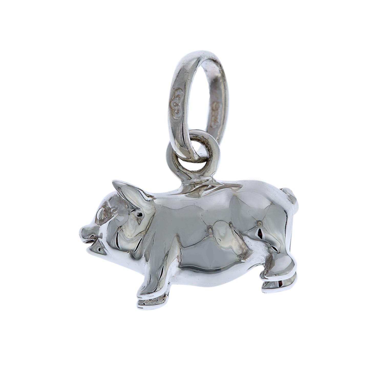 LINKS OF LONDON - Ασημένιο charm Links of London Keepsakes Pig γυναικεία αξεσουάρ κοσμήματα παντατίφ