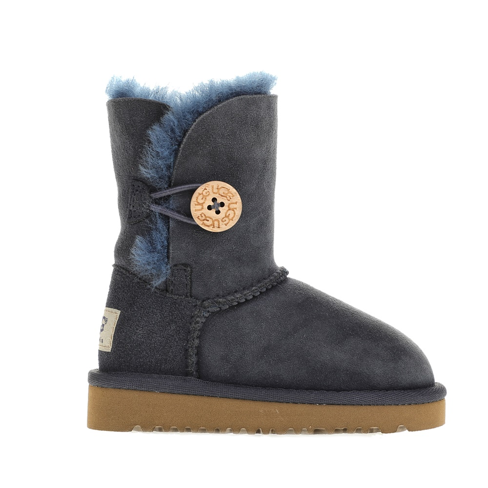 UGG - Βρεφικά μποτάκια UGG BAILEY BUTTON μπλε παιδικά baby παπούτσια μπότες μποτάκια