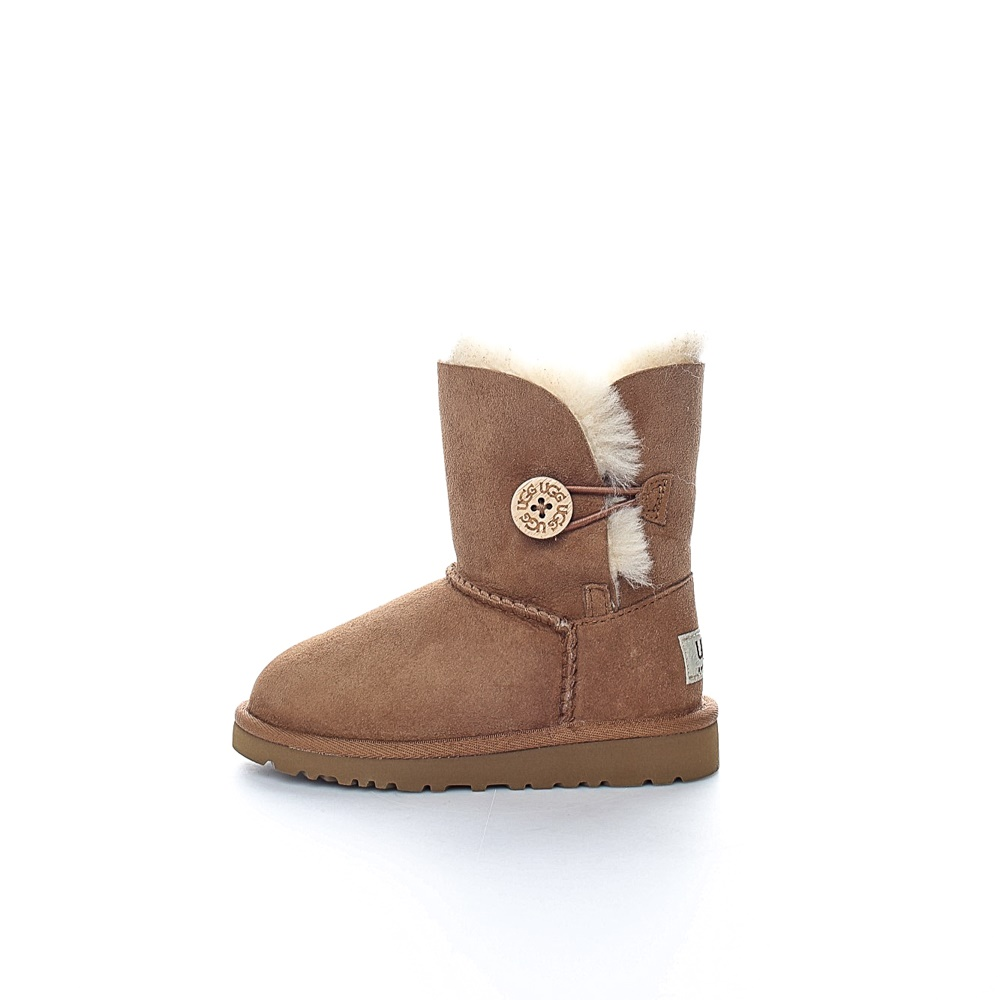 UGG - Βρεφικά μποτάκια BAILEY BUTTON καφέ παιδικά baby παπούτσια μπότες μποτάκια