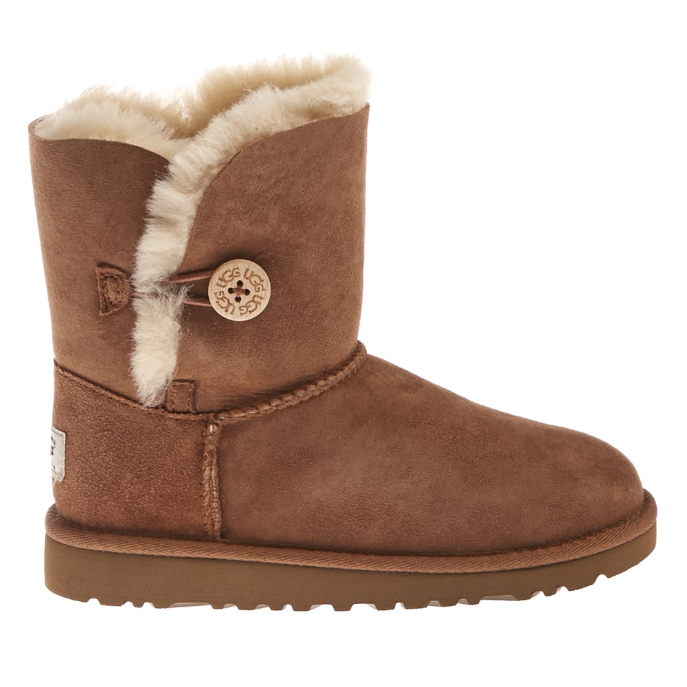UGG – Παιδικά μποτάκια Ugg Bailey Button καφέ