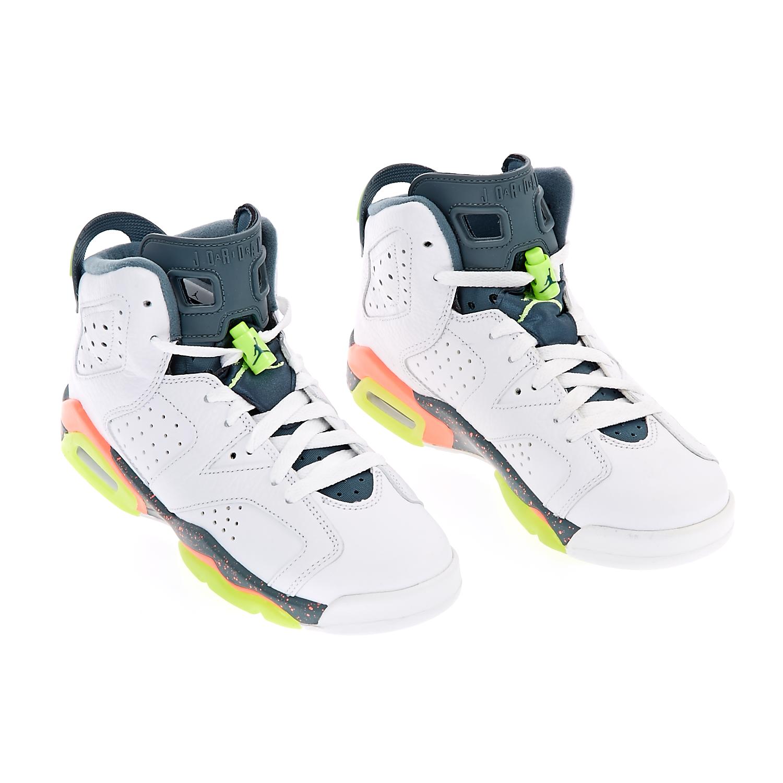 NIKE - Παιδικά παπούτσια NIKE AIR JORDAN 6 RETRO λευκά a6f8ad8478c
