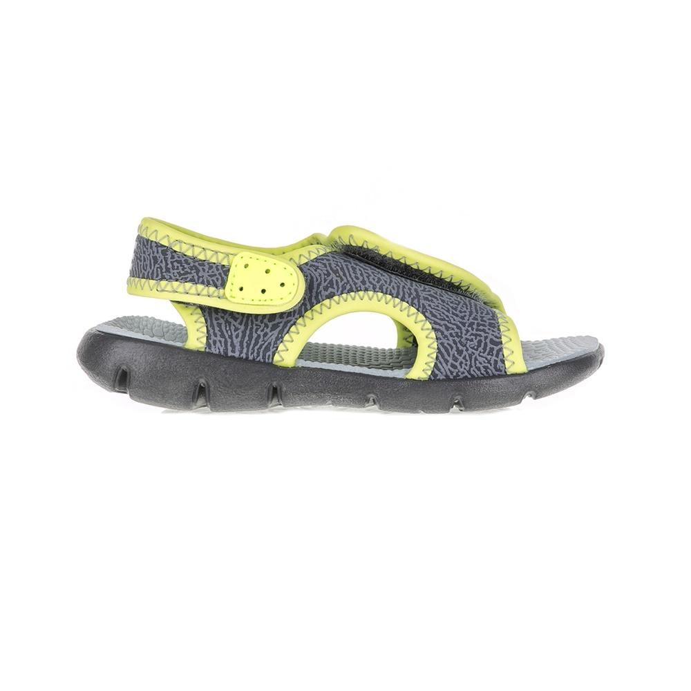 NIKE - Βρεφικά πέδιλα NIKE SUNRAY ADJUST 4 γκρι - κίτρινα παιδικά baby παπούτσια πέδιλα σανδάλια