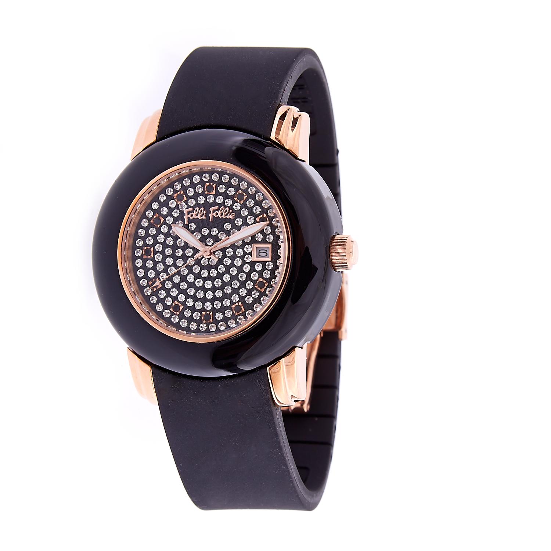 4982f15edc -50% FOLLI FOLLIE – Γυναικείο ρολόι Folli Follie μαύρο